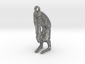 Voronoi yoga jewelry - earring pendant - Vrischika in Natural Silver
