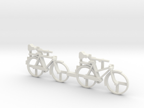 S Scale Bicycles in White Natural Versatile Plastic