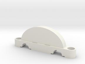 HO Scale 2 inch Track Spacer in White Natural Versatile Plastic