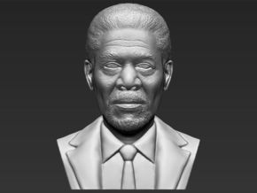 Morgan Freeman bust in White Natural Versatile Plastic