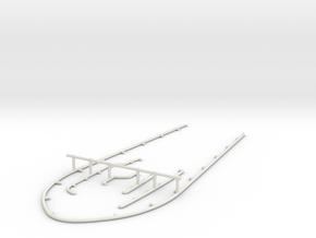 1/72 DKM Uboot VII C41 Conning Tower Handrail Set in White Natural Versatile Plastic