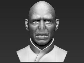 Lord Voldemort from Harry Potter bust in White Natural Versatile Plastic