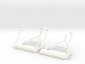 1.8 BELL412 FRONT STEPS FOR ROBAN in White Processed Versatile Plastic