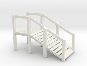 O Scale Cattle Ramp in White Natural Versatile Plastic