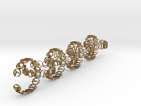 chainr 18.11 mm in Polished Gold Steel