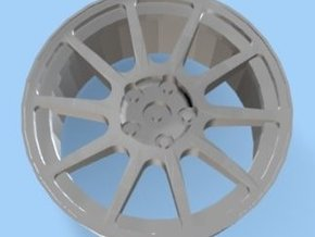 Mitsubishi Evo VI Rim 5 Hole for Tamiya 1/24 in White Strong & Flexible