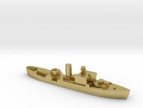 HMS Begonia corvette 1:3000 WW2 in Natural Brass