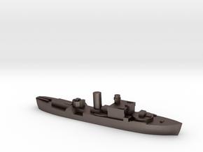 HMS Begonia corvette 1:1800 WW2 in Polished Bronzed-Silver Steel