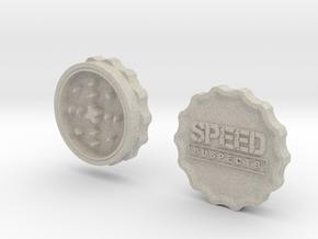 Speed Suspects Herbal Grinder in Natural Sandstone