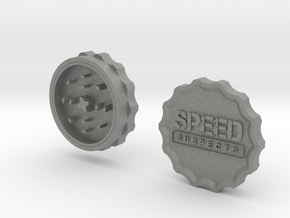 Speed Suspects Herbal Grinder in Gray Professional Plastic