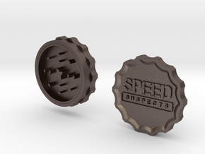Speed Suspects Herbal Grinder in Polished Bronzed-Silver Steel