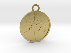 Three of Swords in Natural Brass