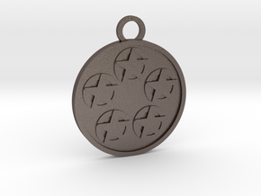 Five of Pentacles in Polished Bronzed-Silver Steel