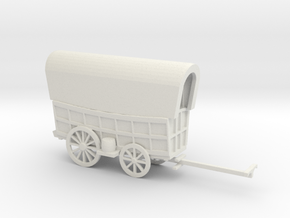CONESTOGA WAGON in White Natural Versatile Plastic