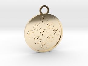 Nine of Pentacles in 14k Gold Plated Brass