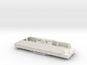 USMRR ARMORED FLATCAR in White Natural Versatile Plastic