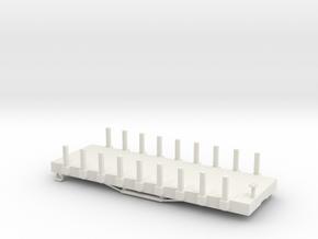 USMRR FLATCAR 9 STAKE in White Natural Versatile Plastic