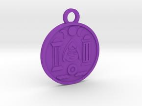The High Priestess in Purple Processed Versatile Plastic