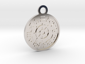 The Wheel of Fortune in Rhodium Plated Brass