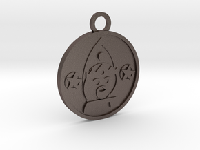 King of Pentacles in Polished Bronzed-Silver Steel
