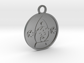 King of Pentacles in Natural Silver
