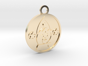 King of Pentacles in 14K Yellow Gold