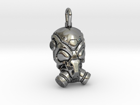 Scifi Gas mask  in Antique Silver