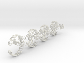 18.11 mm ring 14 poses non groupable (8).stl (5) in White Natural Versatile Plastic