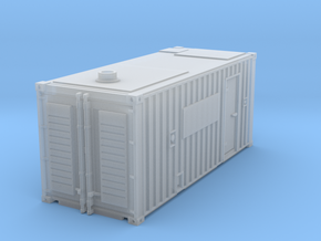 N scale container with generator in Smooth Fine Detail Plastic