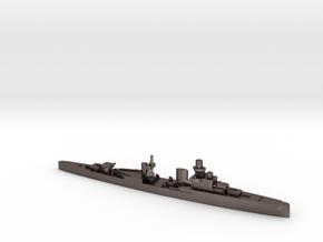 Luigi Cadorna light cruiser 1:1800 WW2 in Polished Bronzed-Silver Steel