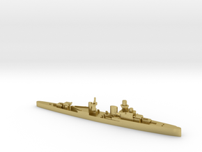 Luigi Cadorna light cruiser 1:1800 WW2 in Natural Brass