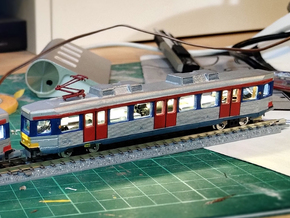 Hong Kong Light Rail N size (back) in Smooth Fine Detail Plastic
