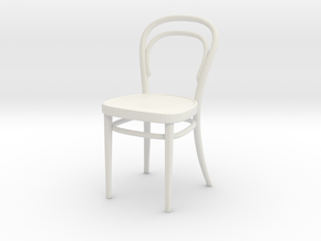 1/18 No. 18 Thonet Chair - Perfect for Lundby, Dje in White Natural Versatile Plastic