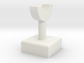 Pipe Pillar v1 #2 in White Natural Versatile Plastic