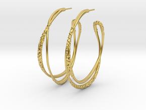 Cosplay Looped Hoop Earrings in Polished Brass