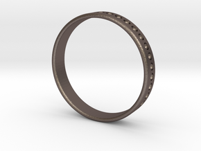 Divit Ring 4mm in Polished Bronzed-Silver Steel: 11 / 64