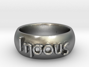 Iesous Greek Ring Size 9 1/2 in Natural Silver