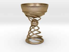 The Goblet in Polished Gold Steel