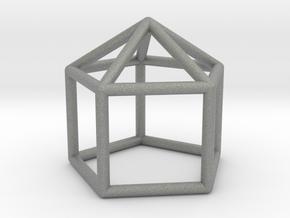 0743 J09 Elongated Pentagonal Pyramid E (a=1cm) #1 in Gray PA12