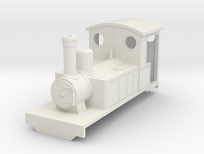 Freelance style bagnall steam locomotive (OO9) in White Natural Versatile Plastic