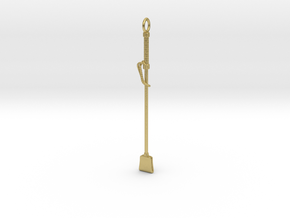 Riding Crop in Natural Brass