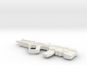 1:12 Miniature Tavor TAR-21 in White Natural Versatile Plastic: 1:12