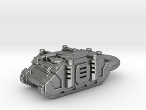 Rhino Tank Pendant necklace space marine in Natural Silver