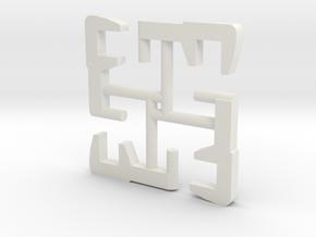 N SIK koppelingen (4 stuks) in White Natural Versatile Plastic