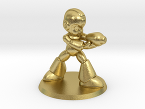 Megaman 1/60 miniature for games and rpg scifi in Natural Brass