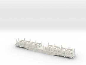 RailAdventure Rungenwagen Sfps, Spurweite TT (Maßs in White Natural Versatile Plastic