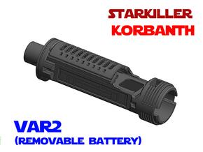 Korbanth Starkiller - Lightsaber Chassis Var2 in White Natural Versatile Plastic
