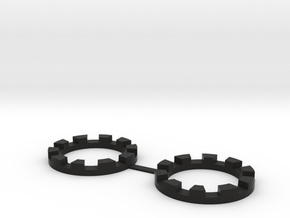 TT-01E Rear Wheel Reinforcement Rings (2pcs) in Black Natural Versatile Plastic