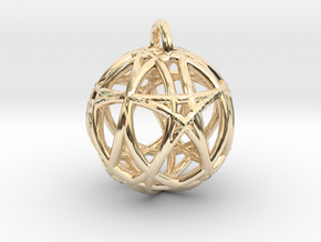 Universependant in 14k Gold Plated Brass