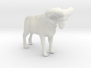 O Scale (1:48) Bighorn Sheep Ram in White Natural Versatile Plastic